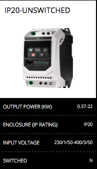 ip20-invertor unswitched