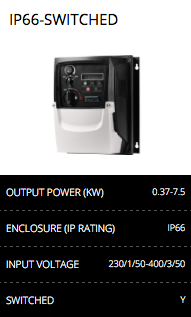 ip66 switched inverter